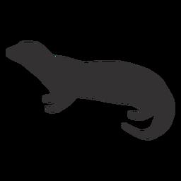Otter muzzle fat silhouette