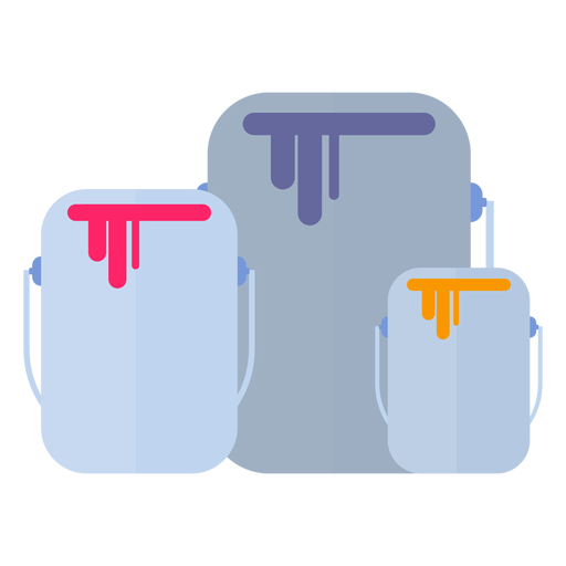 Paint can bucket flat Transparent PNG