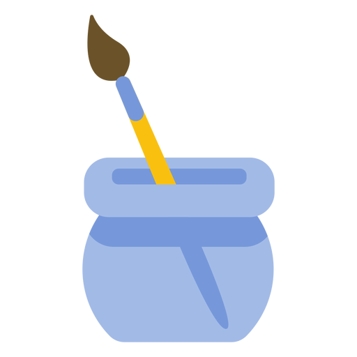 Painting tool brush bristle pot flat Transparent PNG