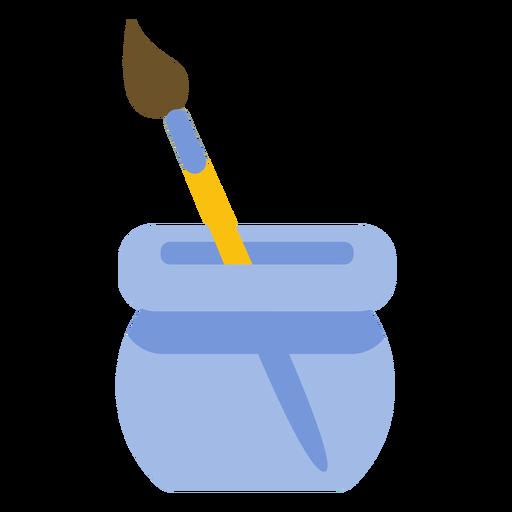 Painting tool brush bristle pot flat