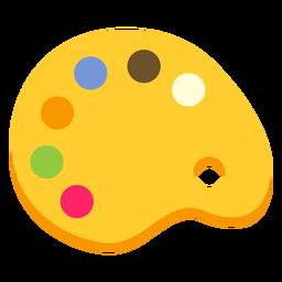 Paleta cor da pintura cor plana
