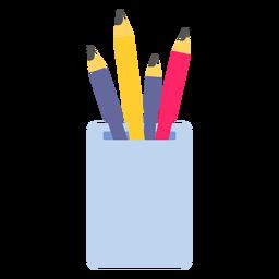 Lápiz pote color color plano