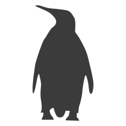 Penguin beak wing fat tail silhouette