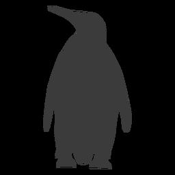 Silhueta de cauda gorda asa bico pinguim