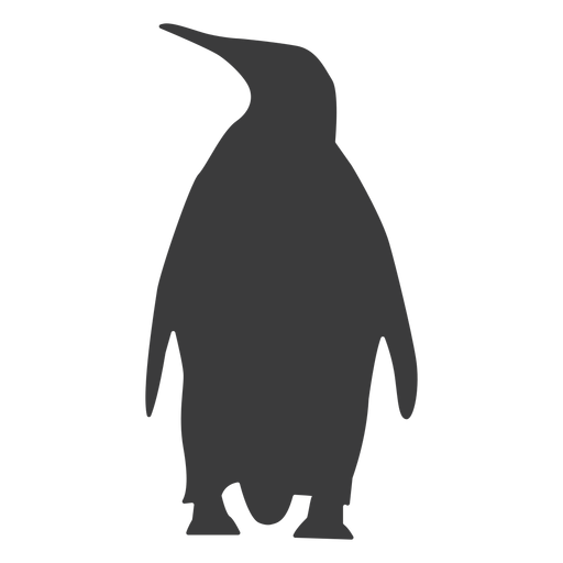 Penguin beak wing fat tail silhouette Transparent PNG