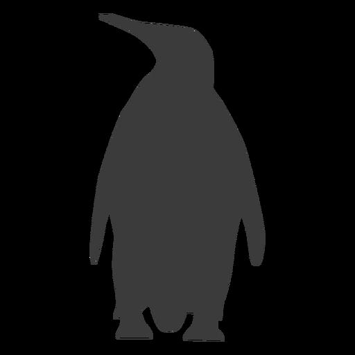 Penguin beak wing fat tail silhouette