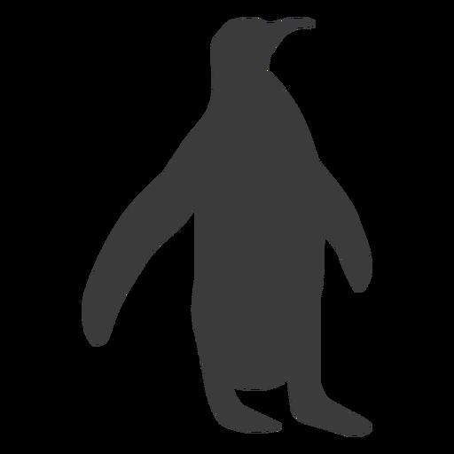 Penguin beak wing silhouette