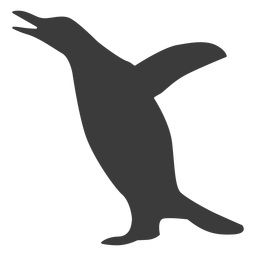 Penguin wing beak silhouette