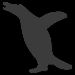 Pinguin Flügelschnabel Silhouette