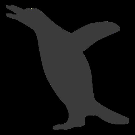 Penguin wing beak silhouette
