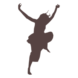 Person dancing silhouette