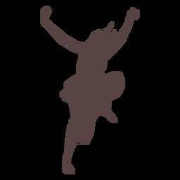 Persona bailando silueta