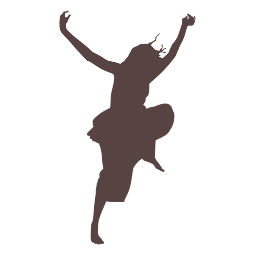 Person tanzende Silhouette Transparent PNG