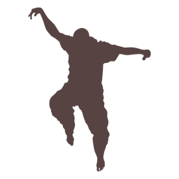 Person finger dancing silhouette