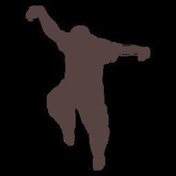 Pessoa, dedo, dançar, silueta