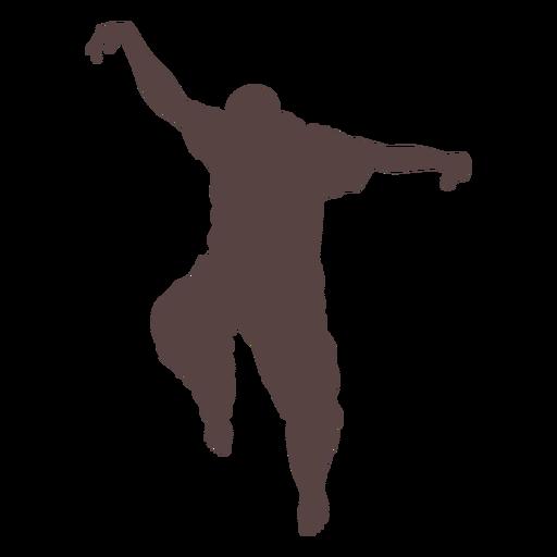 Persona dedo bailando silueta