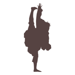 Person traditional dancing silhouette