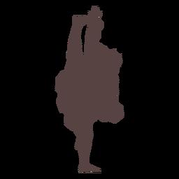 Silueta de baile tradicional de persona