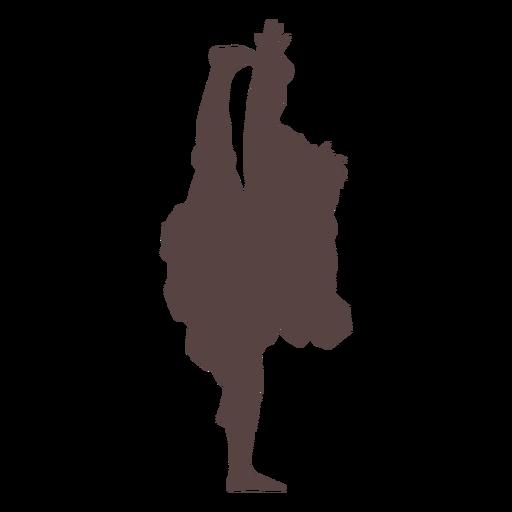 Persona silueta de baile tradicional