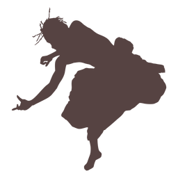 Person trunk dancing silhouette