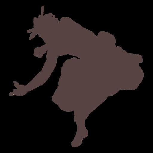 Persona bailable silueta Transparent PNG