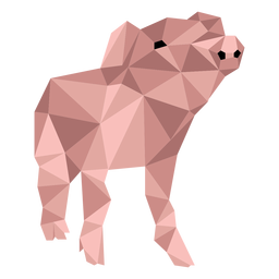Pig ear snout hoof low poly