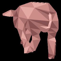 Hocico de oreja de hocico de cerdo baja poli