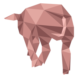 Pig snout ear hoof low poly