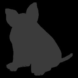 Casca de orelha de focinho de porco sentado silhueta