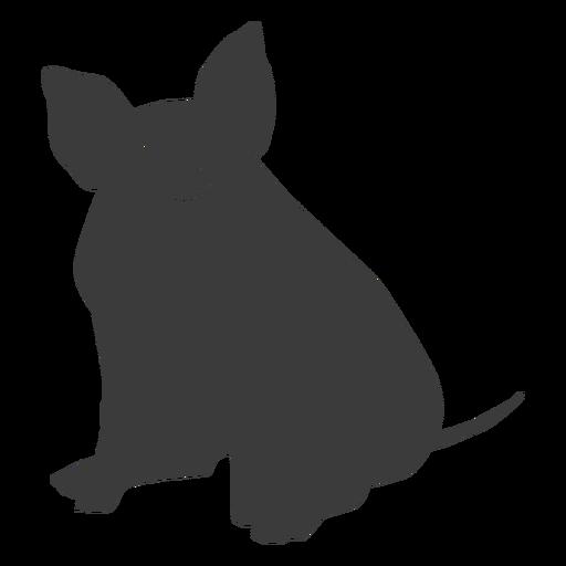 Pig snout ear hoof sitting silhouette Transparent PNG