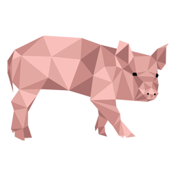 Pig snout hoof ear low poly
