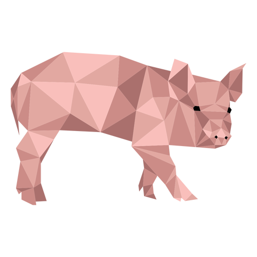 Pig snout hoof ear low poly Transparent PNG