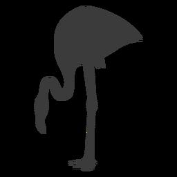 Pássaro de silhueta de bico de flamingo rosa
