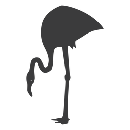 Rosa Flamingobeinschnabel-Schattenbildvogel