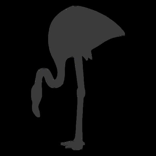 Rosa flamingo pierna pico silueta pájaro Transparent PNG