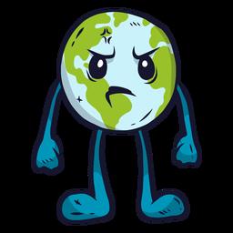 Planet Erde Wut flach