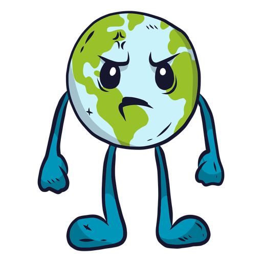 Planet earth anger flat Transparent PNG