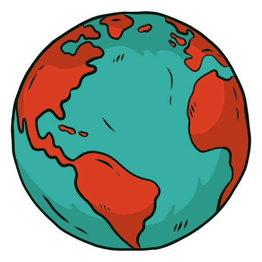 Planetenerdekugel Afrika Amerika flach Transparent PNG
