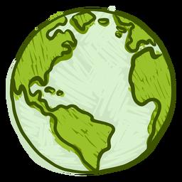 Planet earth globe america africa flat