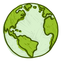 Planeta tierra globo america africa plana