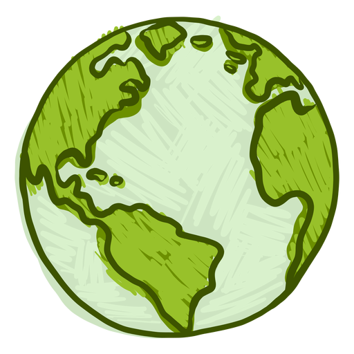 Planet earth globe america africa flat Transparent PNG