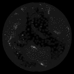 Planetenerdekugel-Amerika-Afrika-Schattenbild