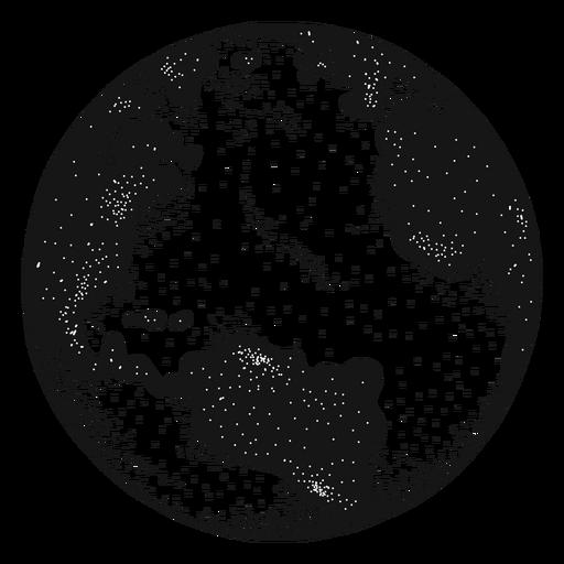 Planet earth globe america africa silhouette