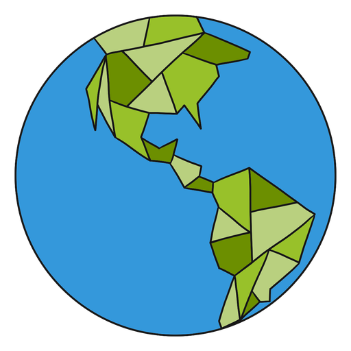 Planet earth globe america border flat Transparent PNG