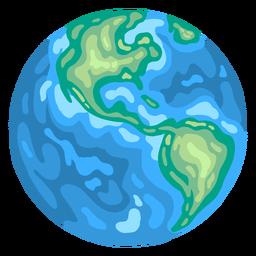 Planeta tierra globo america plana