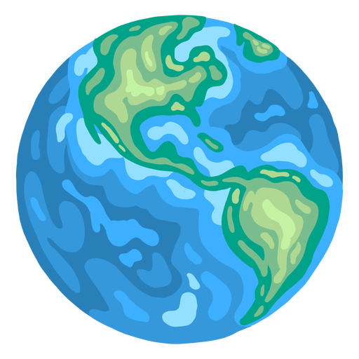 Planet earth globe america flat Transparent PNG