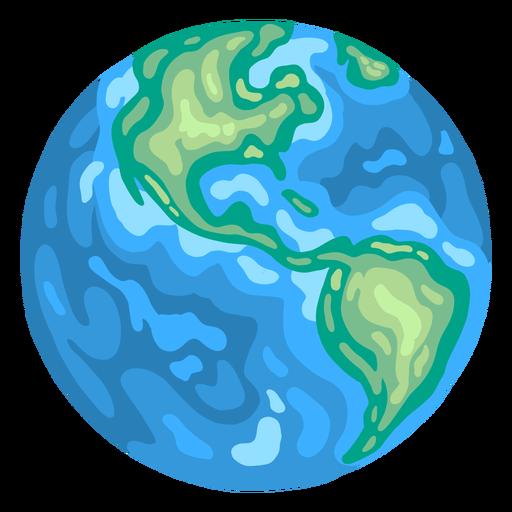 Planet earth globe america flat