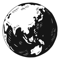 Planetenerdekugel-Asien-Australien-Schattenbild