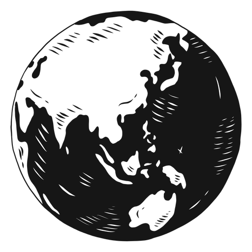Planet earth globe asia australia silhouette Transparent PNG