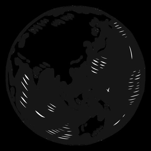Planeta tierra globo asia australia silueta Transparent PNG